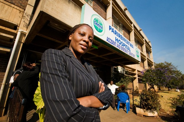This doctor returned from the UK after a unity government was established in Zimbabwe to help participate in her country's economic recovery.
