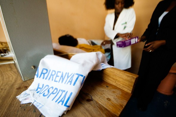 Meanwhile in the city, a patient gets treated at Harare's Parirenyatwa Hospital.