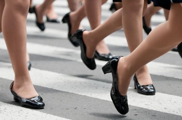 Marching heels.