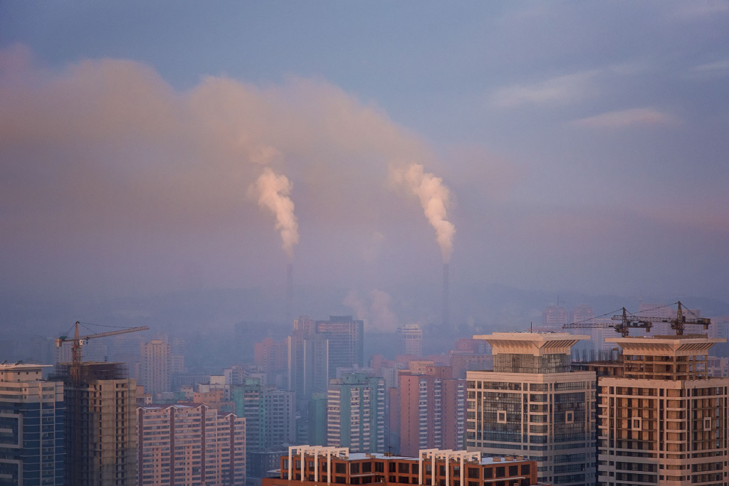 Skyward Tailpipes: Exhaust from a coal power plant billows into atmosphere. At 0.46 megawatt hours per capita, power consumption in North Korea is less than one-twentieth of that in neighbouring South Korea, with World Bank statistics showing just one in three North Koreans with access to electricity.