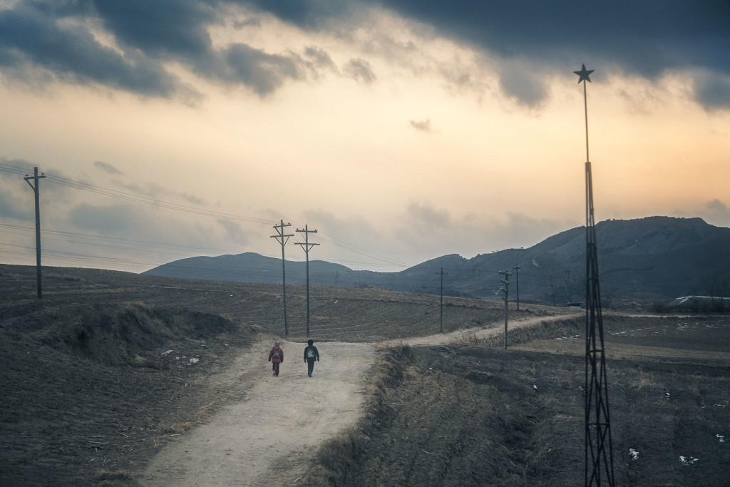 A winding road under the five points, North Hamgyong province.